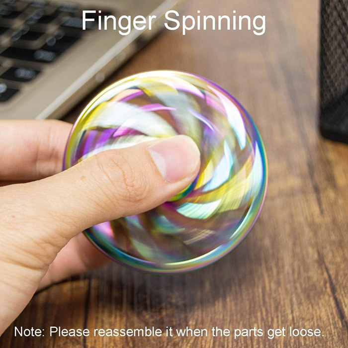 Mandala Aluminum Fidget Spinners Fingertip Gyro Toys