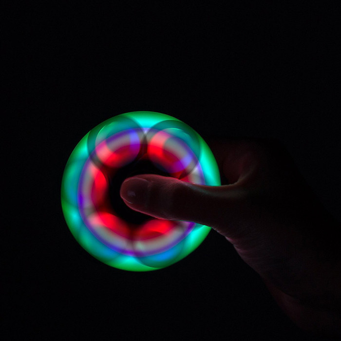 LED Round Lighting Fidget Spinners Fingertip Gyro Toy