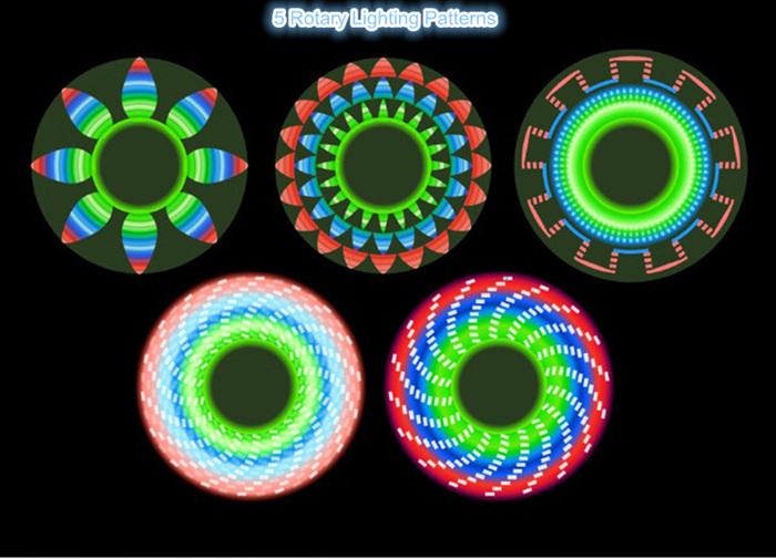 5 Colors Switch Hands Free LED Bluetooth Speaker Fidget Spinner Finger Spinner