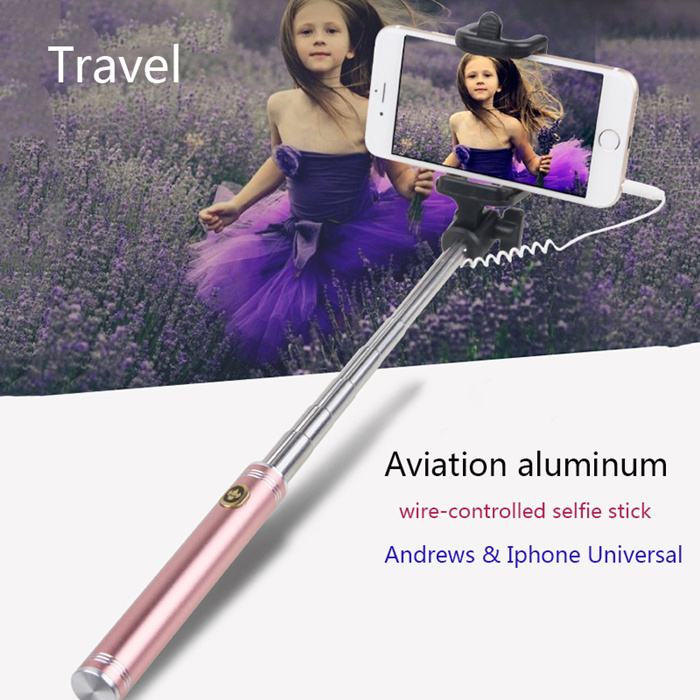 TS120 Portable Selfie Stick Handheld Monopod For Iphone & Android Cellphone
