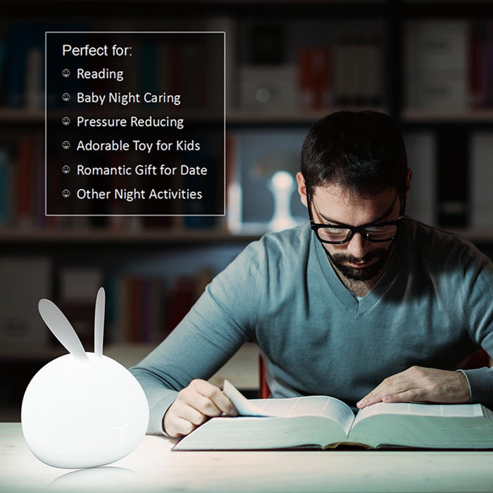 Bunny Lamp Soft Silicone LED Night Light