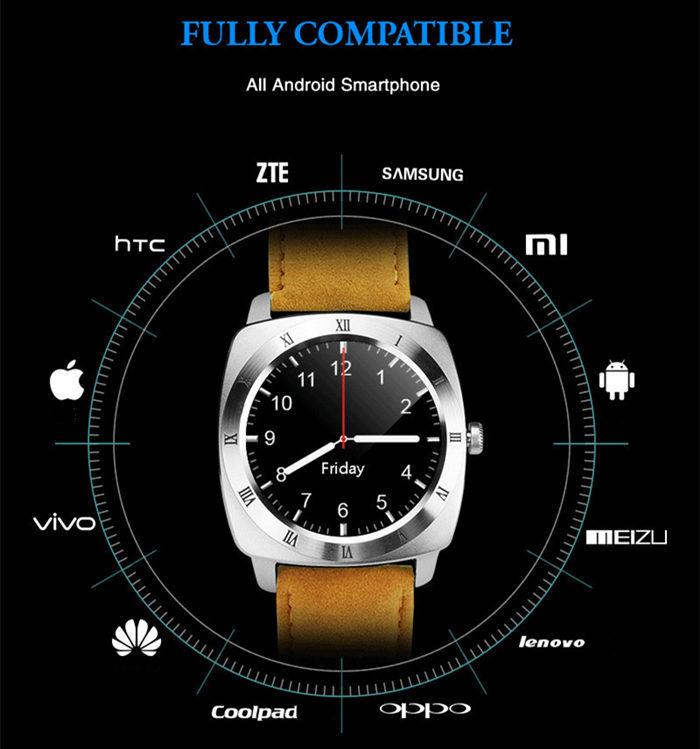 X3 smart watch bluetooth wristwatch with camera