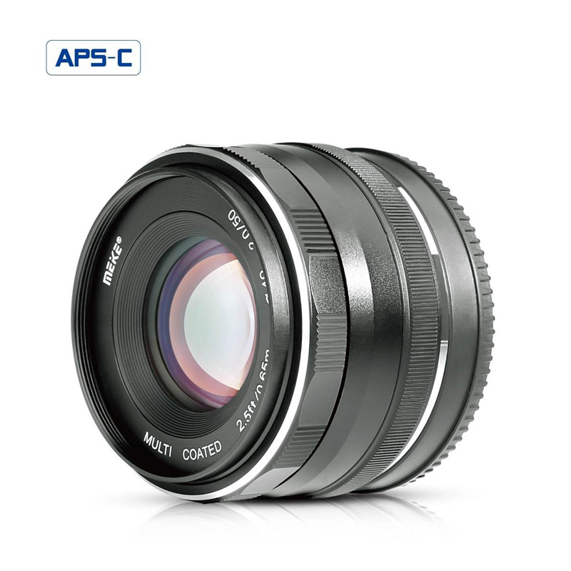 Meike 50mm f/2.0 Fixed Manual Focus Lens for Canon