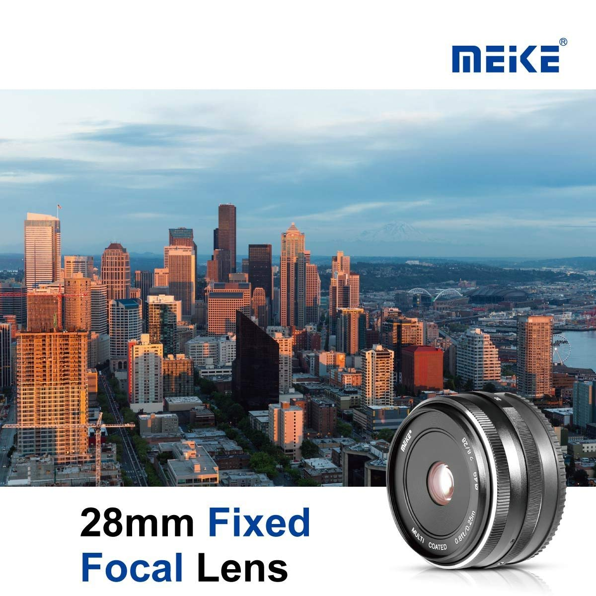 Meike 28mm f2.8 Fixed Manual Focus Lens for Canon