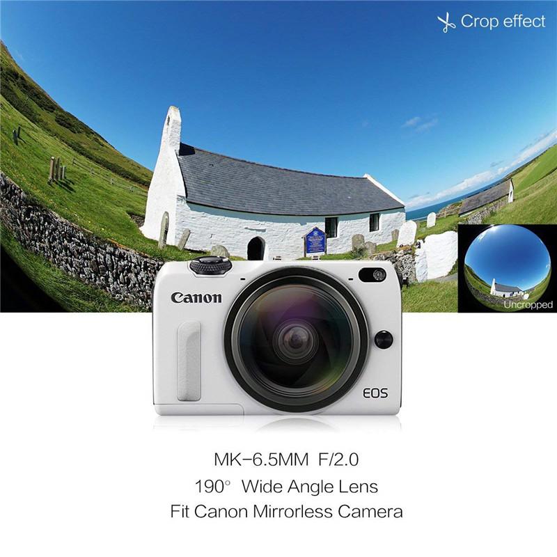 Meike 6.5mm Ultra Wide f/2.0 Circular Fisheye Lens for Canon