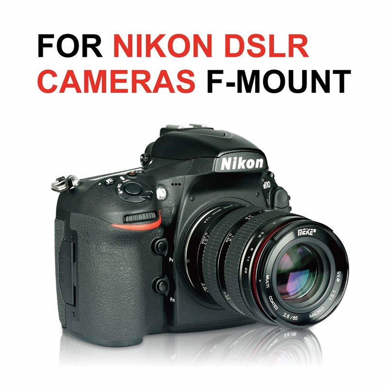 Meike 85mm f2.8 Manual Focus Full Frame Macro Lens For Nikon DSLR ...