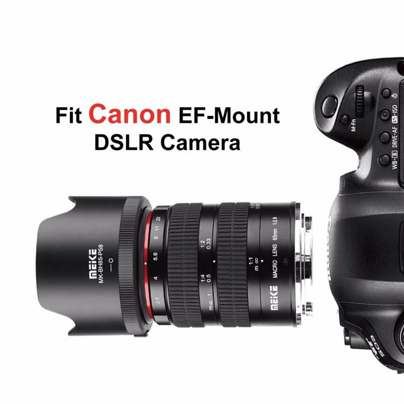 Meike 85mm f2.8 Manual Focus Full Frame Macro Lens For Canon DSLR Camera