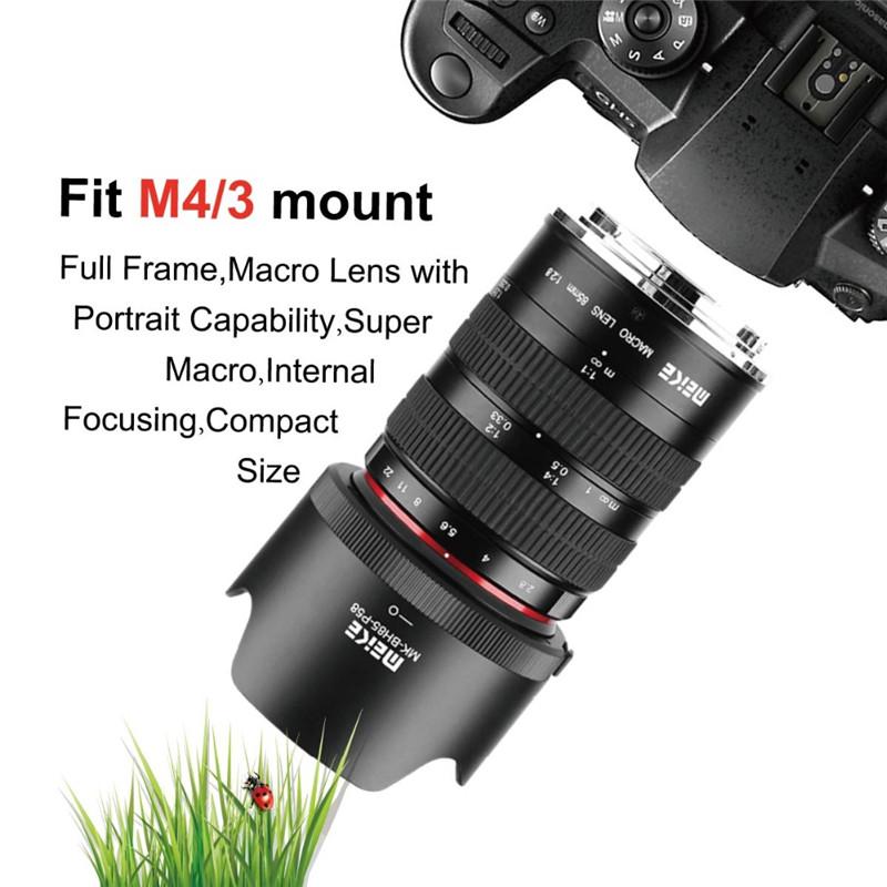Meike 85mm f/2.8 Manual Focus macro lens for olympus panasonic APS-C ...