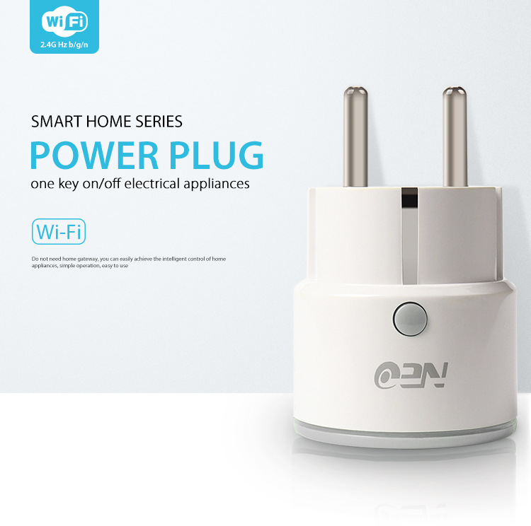 NEO WIFI Smart Plug Smart Switch Socket EU Plug Smart Timing Socket  Wireless Outlet Support Amazon Alexa Google Home