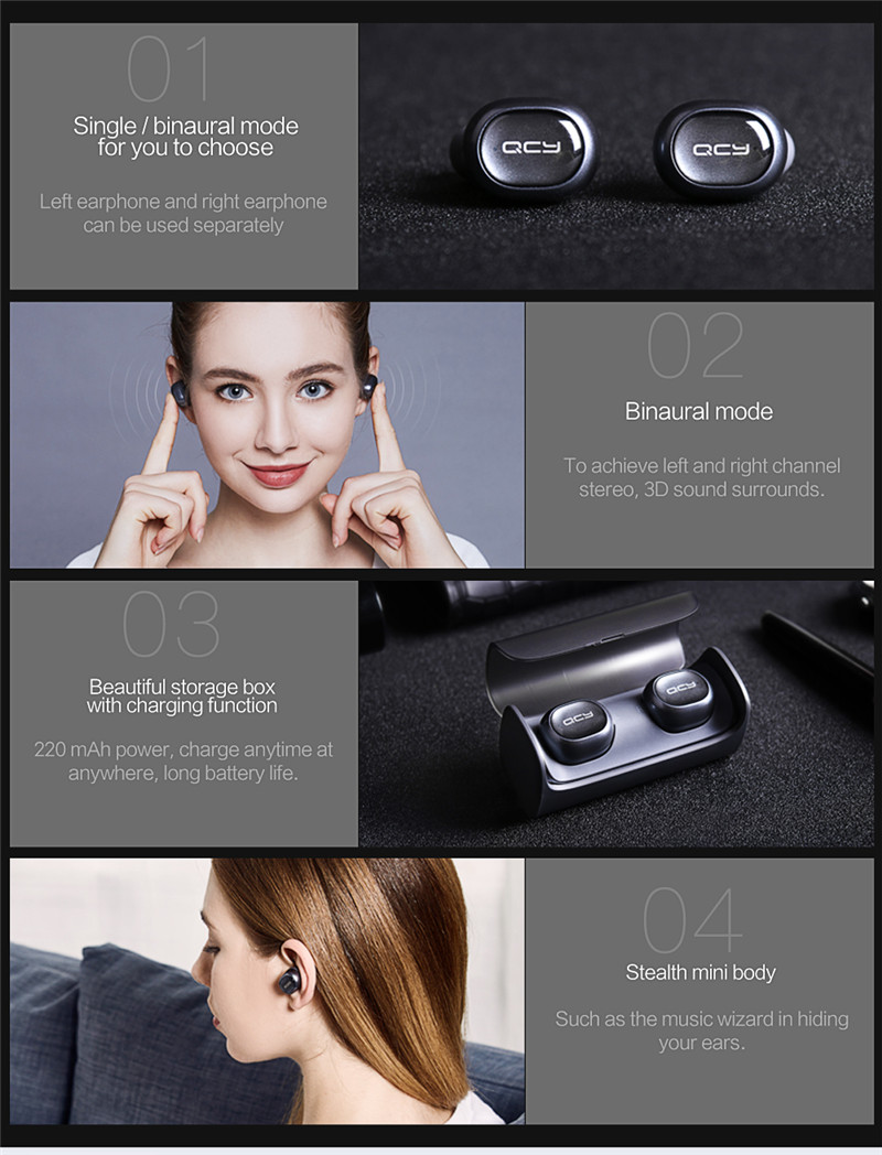 Q29 TWS business Bluetooth earphones wireless 3D stereo headphones
