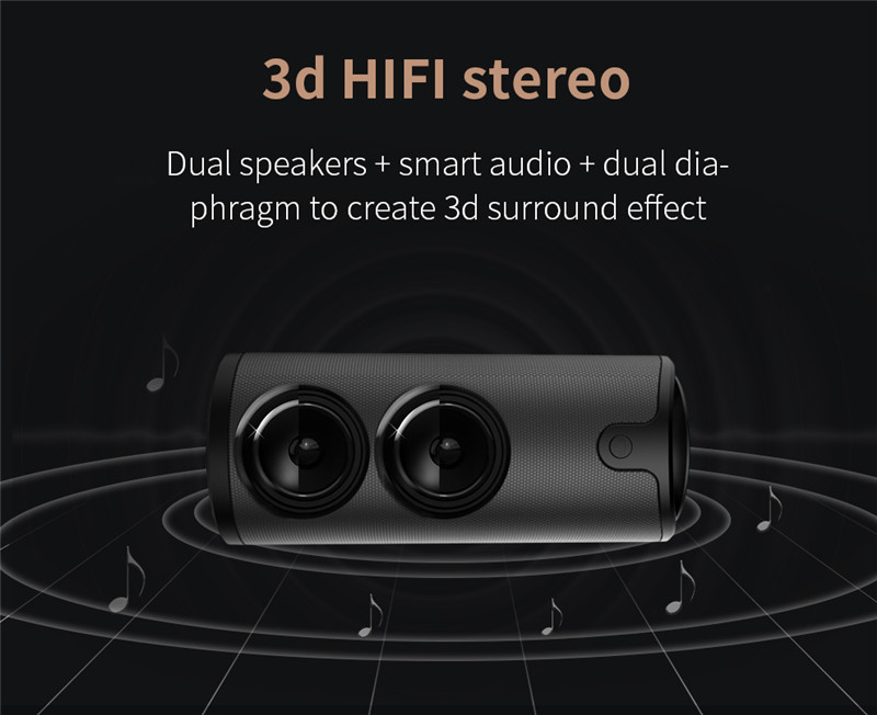 ZEALOT S8 Outdoor 3D Stereo HiFi Bluetooth Wireless Speakers